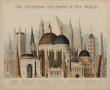 'Comparative View of the Principal Buildings in the World', 1850.