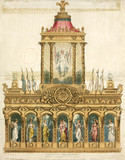 'Ackermann's Transparency, Exhibited to commemorate the Peace, June 1814'.