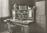 The office of a scientific instrument maker, 1850-1950.