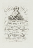 Trade card of Hingston & Co, chemists and druggists, 19th century.