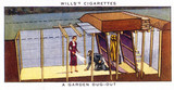 'A Garden Dugout', Wills cigarette card, 1938.