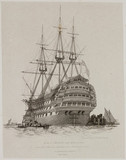 HMS 'Prince', Portsmouth Harbour, July 1828.