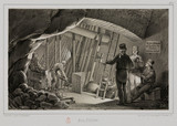 Filling station in a mine, c 1851.