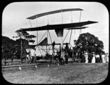 Preparing for a ride on Maxim's flying machine, Baldwin's Park, Kent, 1894.