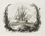 Sailing ship and fishing boats, 1783.