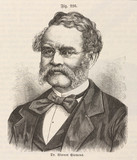 Ernst Werner von Siemens, German electrical engineer, mid 19th century.