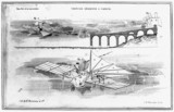 Henson's machine starting from viaduct runway, c 1842.