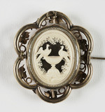Lovebirds brooch, c 1850.