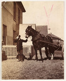 Man with a horse and cart, c 1905.