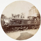 Metropolitan railway steam locomotive, c 1890.