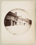 Village street with public house, c 1890s.
