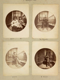 Page from album of photographs taken using Kodak No 1 camera, c 1890s.