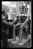 Shaking hands with 'The Monster Robot', 1932