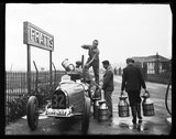 Motor racing at Brooklands, 1932.