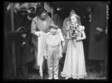 Pageboy and bridesmaid, 1934.