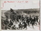 British troops and tanks advancing, France, WWI, c 1918.