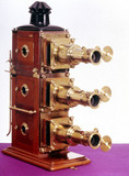 Magic lantern made by J H Steward, late 19th century.