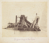 Dredger on Fox River, c 1885.