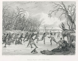 'Ball Play on the Ice', North America, 1847.