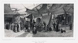 The old fishmonger's bazaar, Smyrna, Turkey, 10 November 1837.