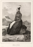 Frida Sveinsdottir in ceremonial costume, Iceland, 1835-1836.