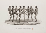 Traditional dance of the Caroline Islands, 1817-1820.