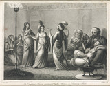 'An Egyptian Harem entertained by the Almees, or Dancing Girls', 1804.
