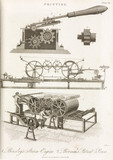 'Bensley's Steam-Engine' and 'Bramah's Patent Pres', 1826.