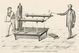 Jesse Ramsden's glass plate electrostatic machine, c 1760s.
