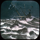 Ship in a storm, c 1895.