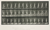 Time-lapse photographs of a woman skipping, 1872-1885.
