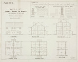 'Design of Double Houses in Blocks for Workmen & Colliers', 19th century.