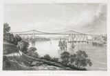 Menai Suspension Bridge, North Wales, 1828.