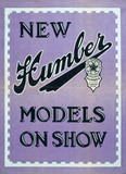 """'New Humber Models on Show', poster, c 1930s."""