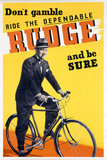 """Rudge bicycle poster, c 1930s. """