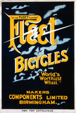 """'Fleet Bicycles', poster, c 1930s."""