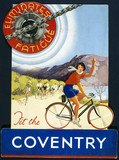 """'Fit the Coventry', bicycle chain, poster, c 1930s."""