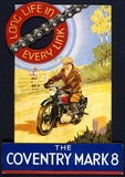 """'The Coventry Mark 8', motorcycle chain, poster, c 1930s."""