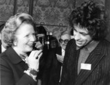 Margaret Thatcher and Bob Geldof, c 1980s.