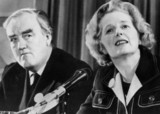 Margaret Thatcher and William Whitelaw, British politicians, c 1970s.