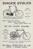 Advertisement for Singer bicycles and motor cycles, 1901.