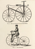'Bicycle Steered by the Hind-Wheel' and the 'Phantom', 1869.