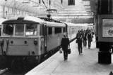 Passengers alighting a Pullman service, Manchester Piccadilly, 19 June 1982.