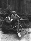 Maxim with machine gun, c 1880s.