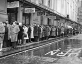 Queue outside the London Pavilion Cinema, West End, 27 November 1960.