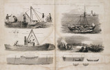 Vessels used during the construction of the Bell Rock Lighthouse, c 1810.