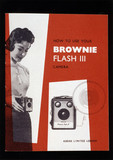 'How to use your Brownie Flash III camera', Kodak camera booklet, c 1957.