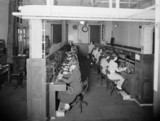 Telephone exchange at Paddington station, 22 July 1942.