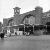 Entrance to King's Cross Station, London, 20 January 1971.
