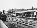 Great Eastern Railway station platform, c 1885.